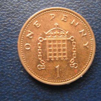 1 пенни Великобритания 2002