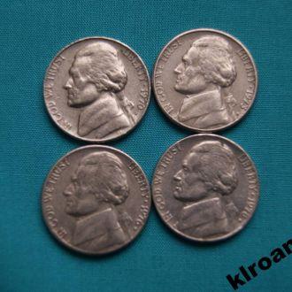 США 5 центов 1970 1973 1976 1978 г  D
