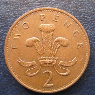 2 пенса Великобритания 1985