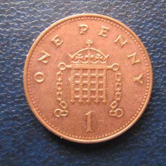 1 пенни Великобритания 1997
