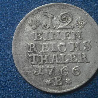ПРУССИЯ 1/12 ТАЛЛЕРА 1766-А