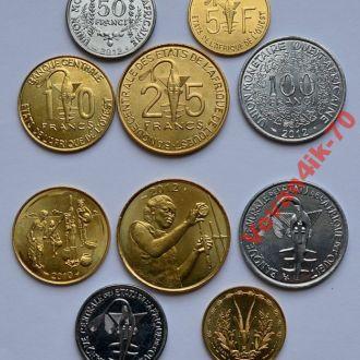 ЗАПАДНАЯ АФРИКА -  набор монет 5 сет