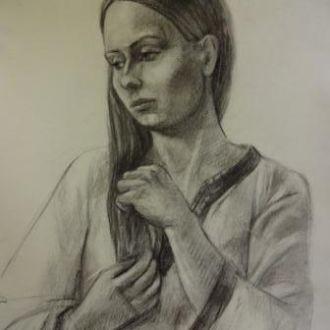 Картина Автопортрет бумага,уголь 50Х60