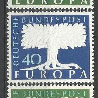 ФРГ 1957 Европа СЕПТ 3м.**