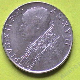 100 Лир 1956 г Ватикан Редкая
