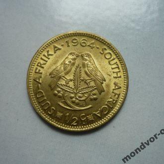 ЮАР 1:2 цента 1964 фауна состояние