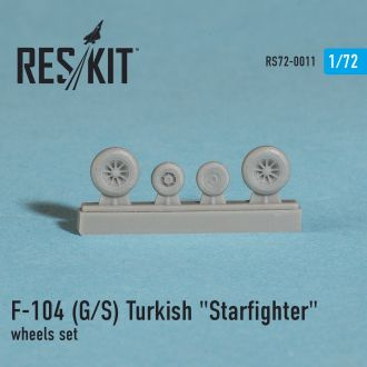 Reskit - 72-0011 - Колёса F-104 G/S Turkish - 1:72