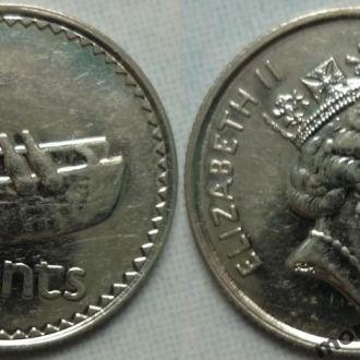 Фиджи 5 центов 1990, 92, 97