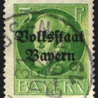 Бавария (1919) Советская Республика. Надпечатка