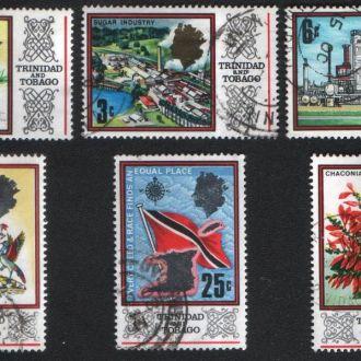 Тринидад и Тобаго(1969)Карта, герб, промышленность