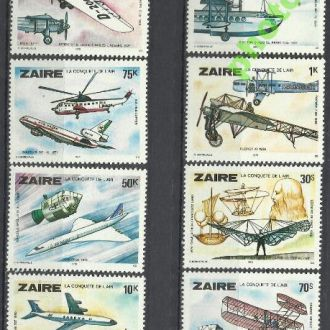 Заир 1978 транспорт самолеты авиация 8м.**