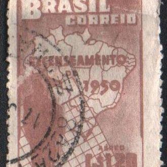 Бразилия (1950) Перепись населения. Карта