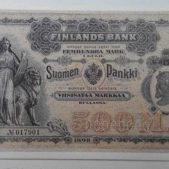 Finland Финляндия - 500 Markkaa 1898 КОПИЯ JavirNV