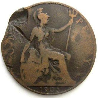 Великобритания 1 пенни 1905 год Эдуард VII