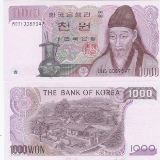 Korea S Южная Корея - 1000 Won 1983 p 47 UNC Javir