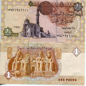 Египет 1 фунт UNC пресс