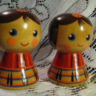Кукла Куколка Девочка Деревянная СССР (пара)