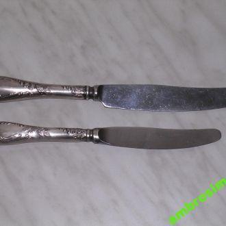 2а ножа столовый и десертный.посеребренные