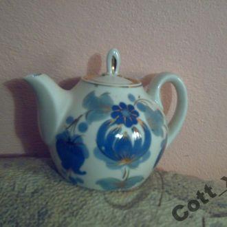 Чайник - СССР - фарфор - позолота