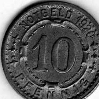 Германия 10 пф 1920 нотгельд