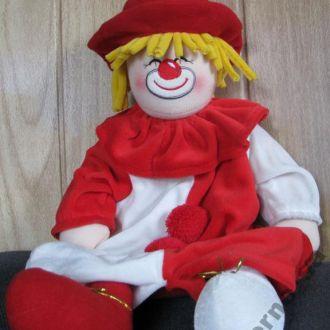Кукла Клоун Детский рюкзачок Велюр Германия 45 см