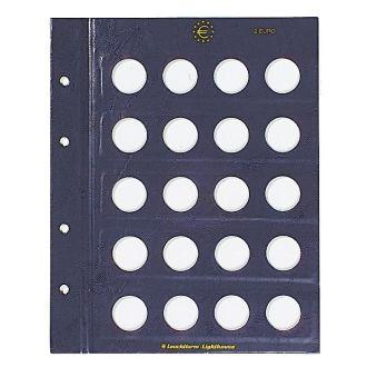 Лист в альбом VISTA Leuchtturm для 2-евровых монет