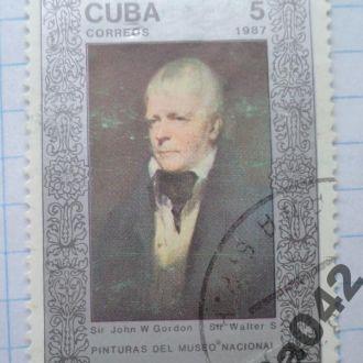 Марка почта Куба 1987 Сэр Джон У Гордон Сэр Уолтер