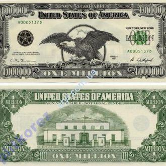 Styl 1000000 $ один миллион долларов США банкнота