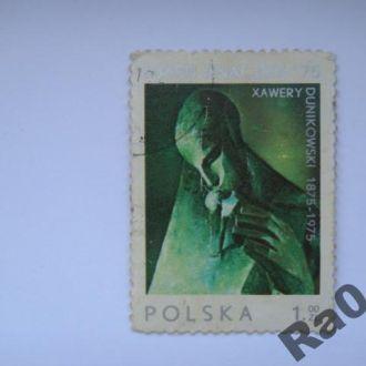 Марка почта Польша 1975 Дуниковский Скульптура