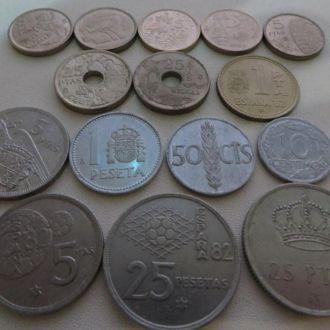 Набор Испания 16 монет.