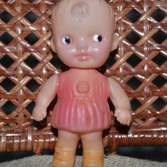 Кукла-пупс девочка, 13см, полиэтилен, Гонконг 60е