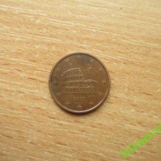 Италия 5 евро центов 2002