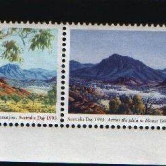 Распродажа Ландшафты горы Австралия 2 марки