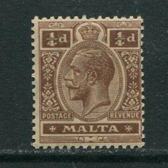 Мальта 1914 год Чистая ** Король