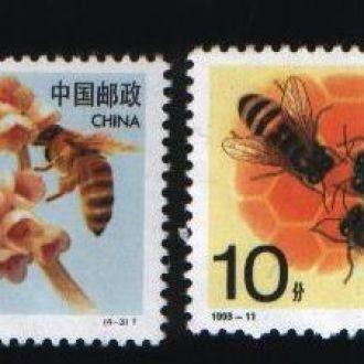 Распродажа Фауна Пчелы Китай 4 марки