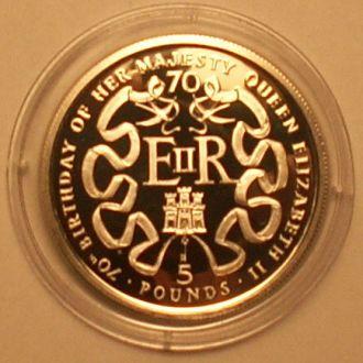 5 фунтов 1996 г. Гибралтар. 23.28г Ag 925пр. ПРУФ.