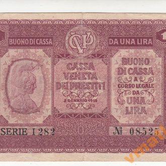 ИТАЛИЯ 1 лира 1918 год