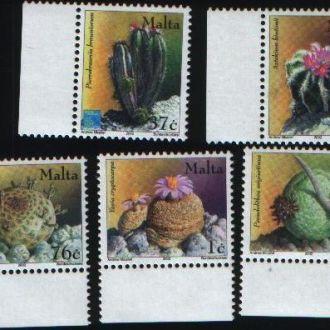 Распродажа Флора Цветы кактус Мальта 5 марок