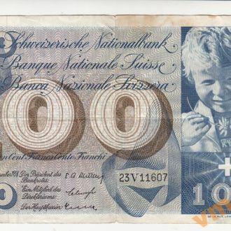 ШВЕЙЦАРИЯ 100 франков 1958 год