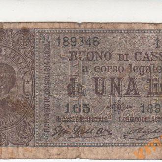 ИТАЛИЯ 1 лира 1918-1920 год