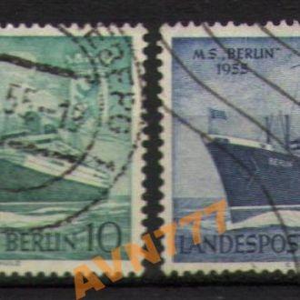 Зап.Берлин 1955 Транспорт Корабли Теплоход БЕРЛИН