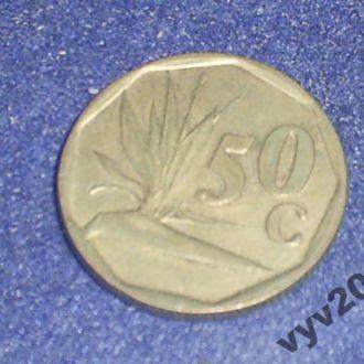 ЮАР-1991 г.-50 центов (стрелиция)
