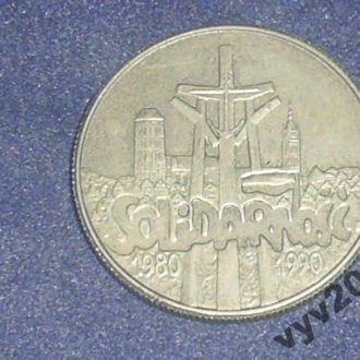 Польша-1990 г.-10000 злотых (юбилейная)