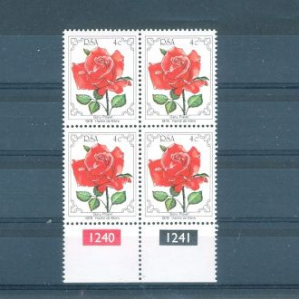 1979 ЮАР роза квартблок **
