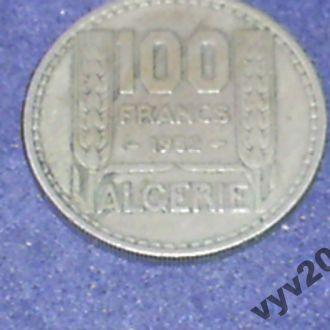 Франц. Алжир-1952 г.-100 франков