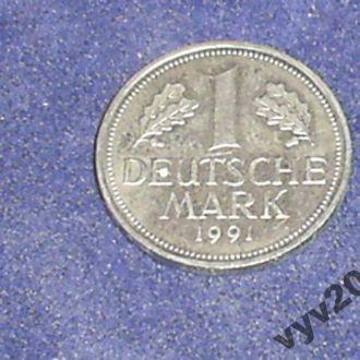 ФРГ-1991 г.-1 марка (J)