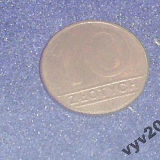 Польша-1990 г.-10 злотых