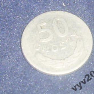 Польша-1949 г.-50 грош алюминий