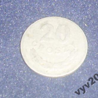 Польша-1949 г.-20 грош алюминий