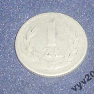 Польша-1949 г.-1 злотый алюминий